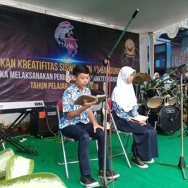 Bismillah... Pembukaan acara Pentas Seni SMPN 12 Bdg oleh Bpk. Setiawan Purnama Jaya  280917